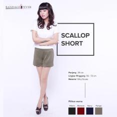 Ready Hotpants Wanita Murah Surabaya Scallop Short Fango Silky Scuba
