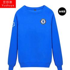 Nyata Madrid Nyata Madrid Tambah Beludru Liga Champions Baju Sepak Bola Kaos Sweater (Chelsea Biru)