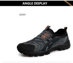 Jual Real Baru Medium Eva Terbaru Pria Hiking Sepatu Berbahan Katun Abu Abu Intl Oem Branded