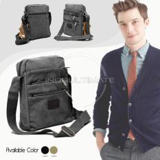 Promo Real Picture 6 Sap Tas Selempang Pria Keren Kanvas Sling Bag Shoulder Bag 160813 Black Murah