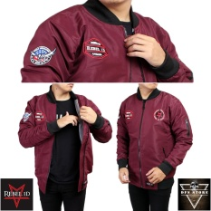 Jual Beli Rebel Id Jaket Bomber World Domination Maron