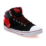 Record Cantona M Sepatu Sneakers Hitam Merah Record Diskon