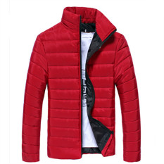 Merah 2017 Winter Duck Down Jaket Ultra Men Solid Mantel Parka Fashion Mens Jaket Down STAND COLLAR Bulu Pakaian Luar Mantel Ukuran Besar 3XL-Intl