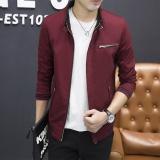 Jual Beli Merah 2018 Musim Gugur Baru Jaket Pria Slim Standing Muda Trend Jaket Kenyamanan Boutique Men S A Generasi Rambut Intl Di Tiongkok