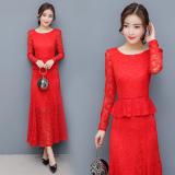 Ulasan Lengkap Red Door Acara Bahagia Merah Model Musim Semi Dan Musim Gugur Lengan Panjang Gaun Gaun Pengantin Mermaid Gaun Merah