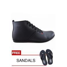 Spesifikasi Redknot Khronos Hitam Fh Sepatu Sneakers Bonus Sandal Redknot Terbaru