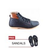 Spek Redknot Luz 01 Hitam Sepatu Sneakers Bonus Sandal Dki Jakarta