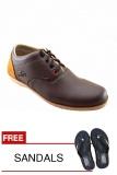 Beli Redknot Yolo Cokelat Sepatu Sneakers Bonus Sandal Yang Bagus