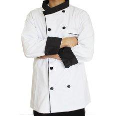 Redpoll Executive Chef Trim Kontras Jacket (Putih/Hitam)-Intl