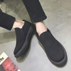 Sepatu Tods Pria Versi Korea ([Rajut Dijahit Trendi Pria Penggemar] Hitam Polos) ([Rajut Dijahit Trendi Pria Penggemar] Hitam Polos)