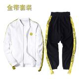 Harga Reds Tren Cekatan Model Sama Pakaian Musim Semi Dan Musim Gugur Gaun Wajah Tersenyum Jaket Putih Emas Sabuk Celana Di Tiongkok