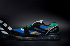 Reebok Sepatu Kasual Pria GL6000 Olahraga Sepatu Sepatu Lari Reebok Klasik Berjalan Sepatu (hitam Hijau Splash-INK) -Intl