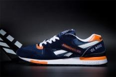 Reebok Sepatu Kasual Pria GL6000 Olahraga Sepatu Sepatu Lari Reebok Klasik Berjalan Sepatu (biru Tua Orange)-Intl