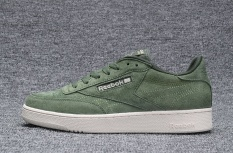Harga Reebok Sepatu Kasual Wanita Nubuck Suede Loafer Sepatu Reebok Club C Baru Fashion Skateboard Sepatu Hijau Army Intl Reebok Ori
