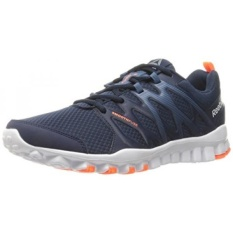Reebok Mens Realflex Train 4.0 Running Shoe, Collegiate Navy/Brave Blue/White/Wild Orange/Pewter, US - intl