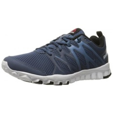 Reebok Mens Realflex Train 4.0 Running Shoe, Royal Slate/Slate/White/Black, US - intl