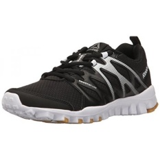 Reebok Womens Realflex Train 4.0 Cross-Trainer Shoe, Black/White/Rbk Rubber Gum/Silver Metallic, US - intl