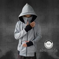 refill.stuff jaket polos ninja(abu muda)