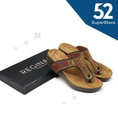 Regina Sandal Wedges Wanita Hak 5 CM 1704-014 Black/Camel Size 37-41