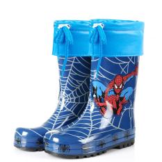 Sepatu Boots Hujan Four Seasons Anak-anak Sepatu Karet Sepatu Remaja Anak Laki-laki (Spider-Man Karet Sepatu Boots Hujan (Dengan Hangat Bagian Dalam))