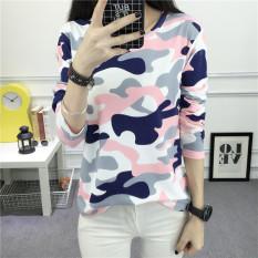 Remaja Perempuan Mantra Warna Kamuflase Dicetak Baju Musim Gugur (Bedak Kamuflase) baju wanita baju atasan kemeja wanita