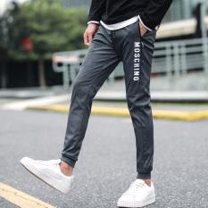 Celana Pria Baru Musim Panas Celana Pensil Remaja SMA (Abu-abu Gelap)