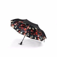 Remax Automatic Umbrella Payung Lipat Mini Otomatis Rt U3 Motif Rose Hitam Dki Jakarta
