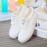 Toko Sepatu Olahraga Wanita Sol Datar Bertali Versi Korea Putih Putih Online Tiongkok