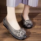 Harga Sepatu Kulit Datar Wanita Retro 586 Abu Abu 586 Abu Abu Yg Bagus