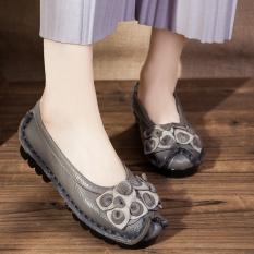 Review Sepatu Kulit Datar Wanita Retro 586 Abu Abu 586 Abu Abu Di Tiongkok