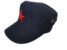 Jual Beli Retro Bintang Berujung Lima Dekorasi Kain Topi Matahari Topi Baru Topi Baseball Hitam Tiongkok