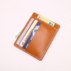 Retro Four Seasons Rajut Mini Kecil Dompet Uang Receh (Kuning Brown)