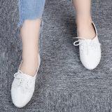 Perbandingan Harga Retro Ladies Solid Color Lace Up Sepatu Kasual Putih Oem Di Tiongkok