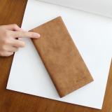 Ulasan Retro Ultra Tipis Lulur Dari Laki Laki Muda Dompet Dompet Coklat Muda Coklat Muda