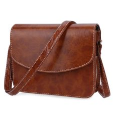 Retro Mini Shoulder Bag Messenger Packet Satchel Handbags Horizontal Light Brown Intl Asli