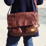 Spesifikasi Retro Pria Kapasitas Besar Tas Tas Tas Bahu Tas Coklat Gelap Tas Tas Pria Tas Selempang Pria Lengkap Dengan Harga