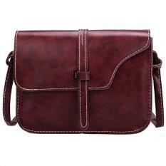 Jual Retro Synthetic Leather Mini Solid Handbag Cross Body Shoulder Bags Red Intl Murah Indonesia