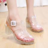 Toko Retro Transparan Baru Kristal Plastik Sandal Summer Transparan Sepatu Wanita Sendal Wanita Terlengkap Di Tiongkok