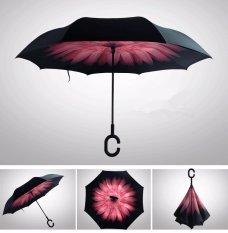 Toko Mundur 2 Jenis Lapisan C Pemegang Payung Berwarna Merah Muda Bunga Yang Bisa Kredit