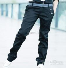 Toko Revolterstore Celana Panjang Bahan Chino Black Ahjussi Lengkap