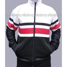 REY Jaket Tracktop Premium Best Seller white black