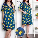 Reyn Shop Banana Daster Navy Pajamas Wanita Pakaian Wanita Baju Tidur Wanita Dewasa Indonesia Diskon