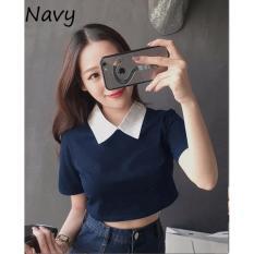 Jual Reyn Shop Blouse Chiki Top Navy Atasan Wanita Baju Wanita Blouse Wanita Online Indonesia