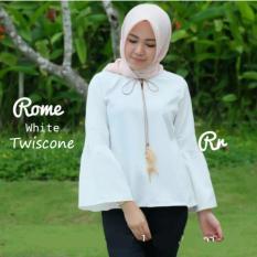 Reyn Shop - Blouse Raisa Putih  Baju Wanita  Pakaian Wanita  Atasan Muslim