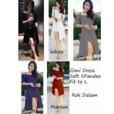 REYN SHOP Gimi Dress Hitam  Dress Wanita  Baju Wanita  Dress Hitam