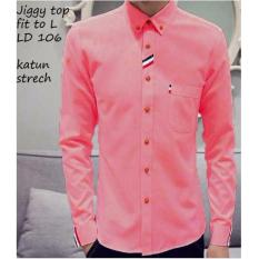 Harga Reyn Shop Kemeja Jiggy Top Pink Atasan Pria Kemeja Pria Baju Pria Yang Bagus
