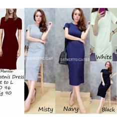 REYN SHOP Kitniss Dress Hitam  Dress Wanita  Baju Wanita  Pakaian Wanita