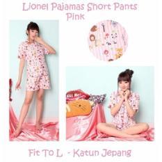 Jual Reyn Shop Piyama Lionel Pendek Pink Setelan Wanita Baju Tidur Pajamas Wanita Grosir