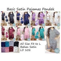 Review Toko Reyn Shop Satin Pajamas Pendek Baju Tidur Piyama Dewasa Pendek Setelan Baju Tidur Online