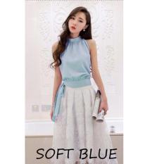 Toko Reyn Shop Yukata Top Soft Blue Atasan Wanita Blouse Wanita Baju Wanita Terlengkap